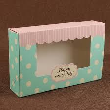 polka dot boxes blue polka dot 8pcs egg tart cake packaging paper boxes with windows