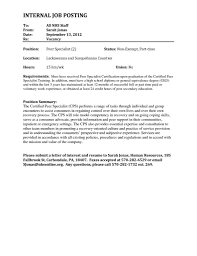 Internal Resume Examples by Letter Of Interest For Internal Job Posting Amplifiermountain Org