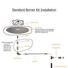 amazon com spotix hpc match lit fire pit burner kit round 24