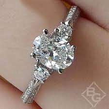 stone rings style images Simon g three stone oval vintage style engagement ring jpg