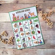 printable thanksgiving bingo woodland bingo bugaboocity