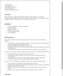 Sample Objectives In A Resume by Professional Asset Protection Manager Templates To Showcase Your