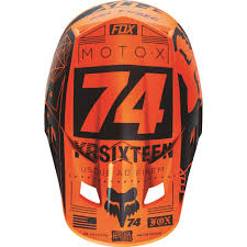 motocross fox helmets fox racing 2016 v2 union helmet orange available at motocross giant