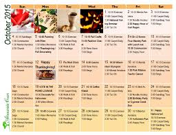october calendar of seniors activities at arbourside court