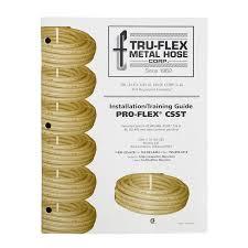 shop pro flex pro flex csst installation training guide at lowes com