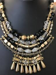 gold black bead necklace images Juliette gold black bead and stone necklace micahsboutiqueonline jpg