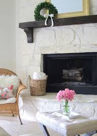 eclectic home tour this is happiness white stone fireplacesfireplace