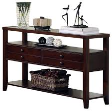 Dark Wood Sofa Table Amazing Furnished Furniture Polyvore For Cherry Wood Sofa Table Modern Jpg