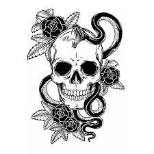 skull halloween rose snake sticker punk death decal halloween