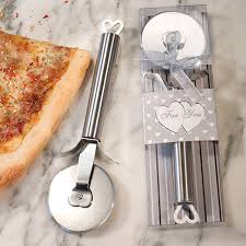practical wedding favors these unique heart design stainless steel pizza cutter wedding