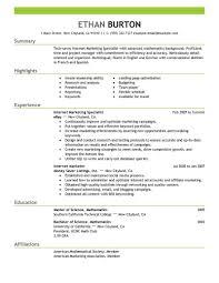 resume exles for media internships best online marketer and social media resume exle livecareer