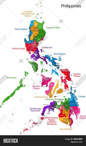 Luzon Map Map Of Republic Of The Philippines With Eighty Provinces Stock