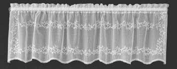 White Valance Heritage Lace Sheer Divine Valance 3 Colors