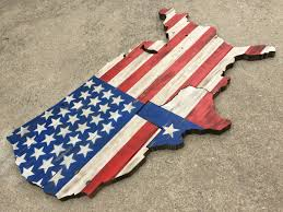 How Many Flags Have Flown Over Texas Usa W Texas On Reclaimed Pallet Wood Cutouts With Rustic Flag