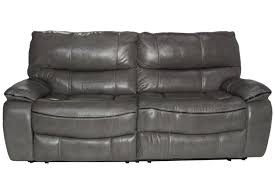 lotus leather gray reclining sofa mor furniture for less