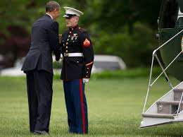 black friday marines obama forgets to salute marine awkwardly makes it up to him
