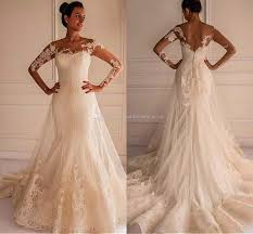 wedding dress shop online new plus size ivory lace wedding dresses mermaid