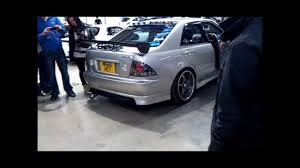 lexus altezza modified toyota altezza rs200 reving and blowing fire youtube