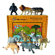 safari jeep cartoon safari animal figures boxed set of 9 u2013 lello and monkey