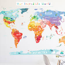 bolivia on world map our world die cut world map wall decal with