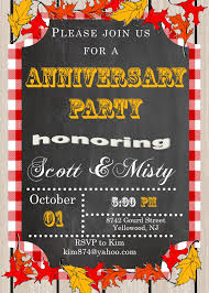 thanksgiving party invite anniversary party invitations new selections fall 2017