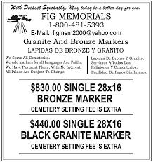 grave markers prices bronze granite monument memorial grave markers headstones lapidas