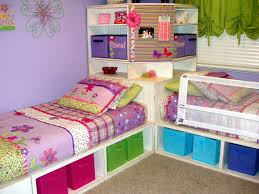 Girls Twin Bed With Storage by Ana White Twin Storage Beds With Corner Hutch Diy Projects