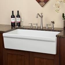 white durable farmhouse sink signature hardware