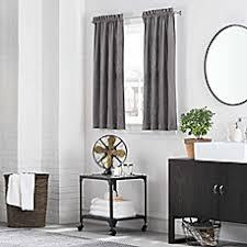 Gray Bathroom Window Curtains Kenneth Cole Reaction Home Bath Window Curtain Panel And Valance