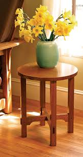 Free Woodworking Plans Small End Table by How To Build An Arts And Crafts Side Table Finewoodworking