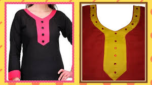 Design On Neck How To Cut And Stitch Designer Curved V Neck With
