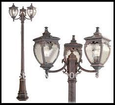 Outdoor Light Post Fixtures by New 3 Light Outdoor Post Lamp Lighting Fixture Gold Bronze