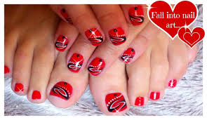 red nail art for short nails tattoo nails black and white nail