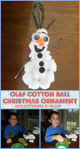 Easy Homemade Christmas Ornaments by Cute And Easy Diy Olaf Cotton Ball Christmas Ornament Crafty