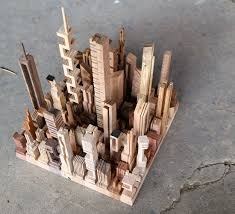 Ingrid Siliakus by New Wooden Cityscapes Sculpted With A Bandsaw By James Mcnabb Wood