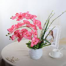 Wedding Home Decoration Aliexpress Com Buy Fashion Orchid Artificial Flowers Diy
