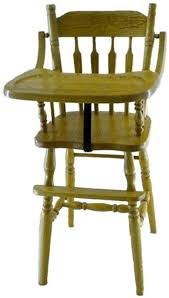 Wooden Doll High Chair Arrow Back Oak High Chair From Dutchcrafters Amish Furniture