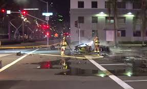 fatal lamborghini crash driver of speeding lamborghini dead after fiery crash downtown