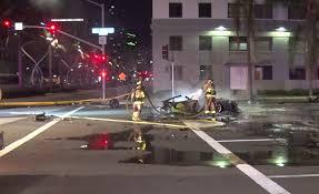 driver of speeding lamborghini dead after fiery crash downtown