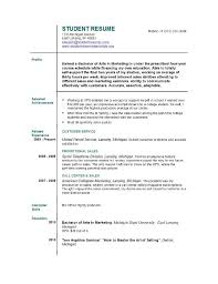 First Time Job Resume Examples by Creating Resume First Job
