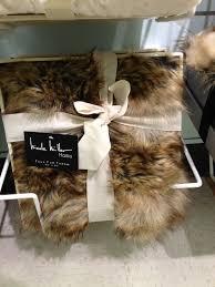 Faux Fur Throw Blanket Nicole Miller Faux Fur Throw Blanket L I V I N G R O O M