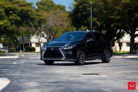 custom lexus rc custom wheels help this lexus rx transition to the dark side