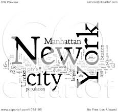 clipart bureau clipart black and white york city word collage royalty free