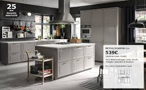 les cuisines ikea photo de cuisine amenagee slider3 metod bodbyn gris ikea lzzy co