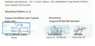 mendirikan yayasan pendidikan islam surat izin lingkungan pendirian tk kb tpa dari rt rw paud jateng