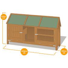 Large Rabbit Hutch Home U0026 Roost U2013 Wordsworth Extra Large Rabbit Hutch