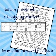 classifying matter coloring and puzzle review editable