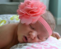 baby flower headbands coral flower baby headbands baby headband coral