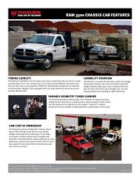 dodge ram 3500 chassis cab infosheet 2007 by dodge