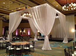 pipe and drape wedding drapery design productions